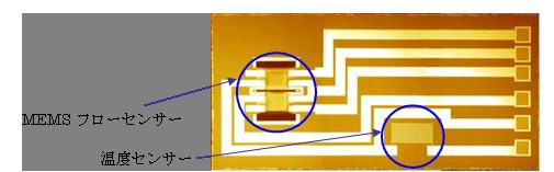 MEMSセンサーチップ図